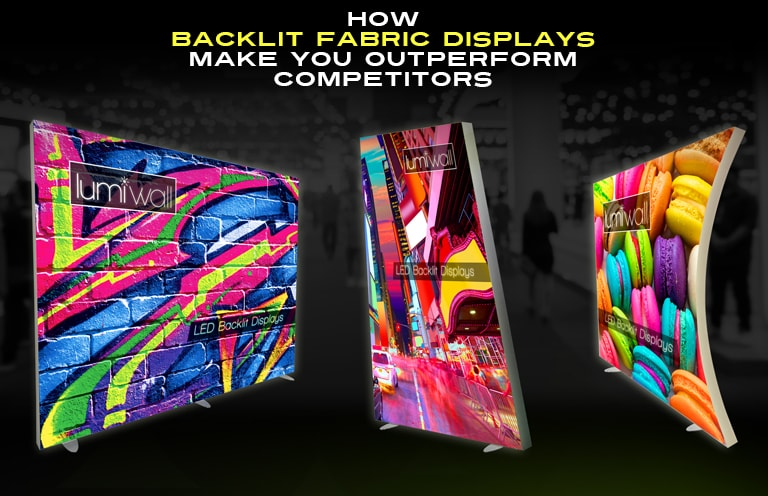 Backlit fabric displays