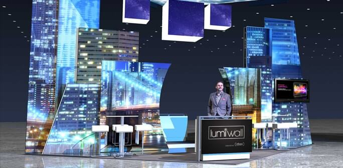 Abex/Exhibitor 2017 - Custom 20x20 Lumiwall Modular Exhibit