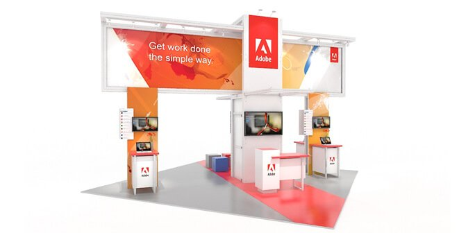 Adobe - Solar 20x20 Modular Exhibit