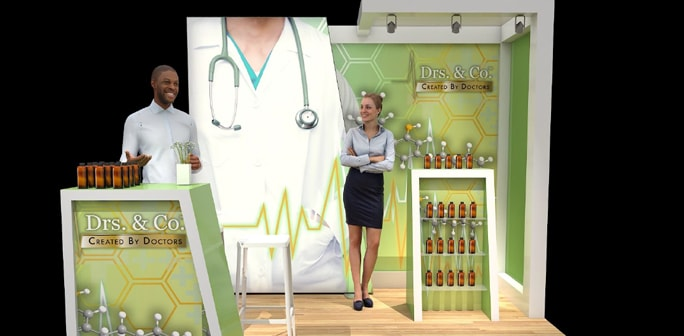 Drs And Co 10x10 Solar/Lumiwall Custom Modular Exhibit