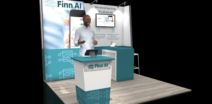 FINN AI 10x10 Exhibit Design