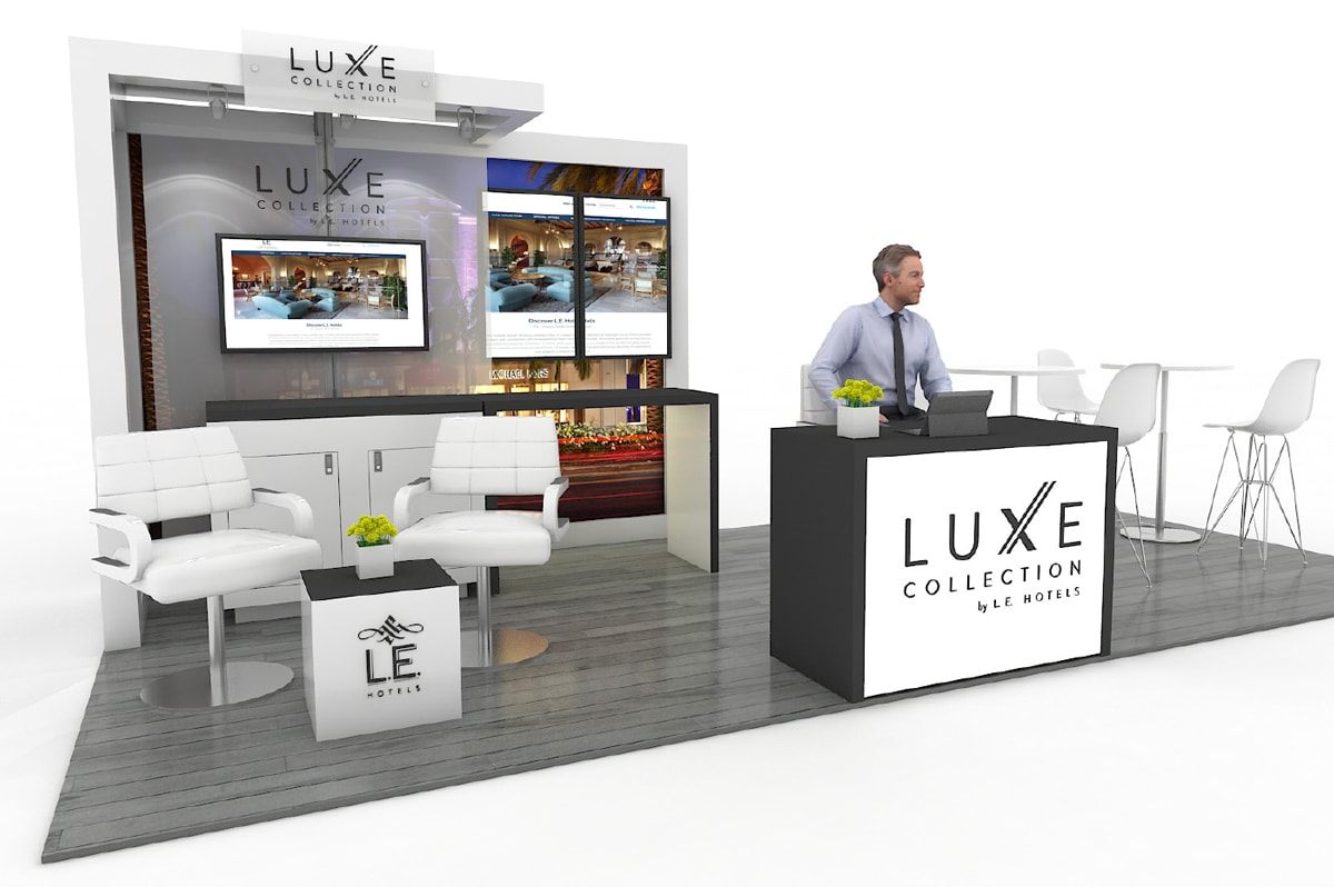 LE Hotels - 10x20 Solar Custom Modular Exhibit