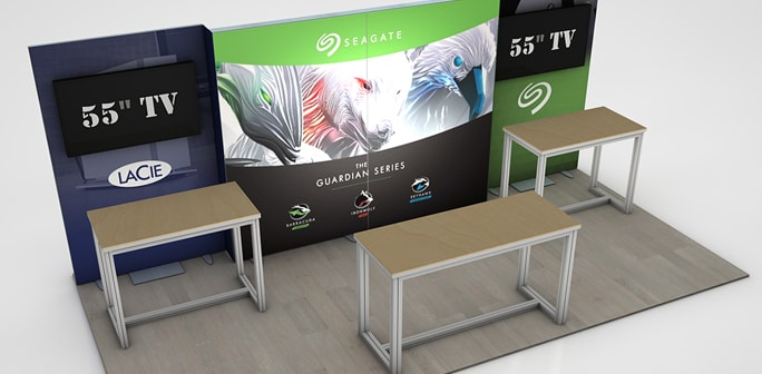 Lacie - 10x20 Custom Modular Exhibit Solution
