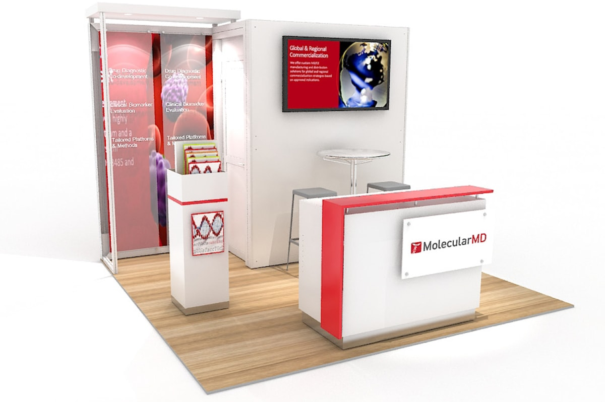 Molecular MD 10x10 Solar Custom Modular Exhibit