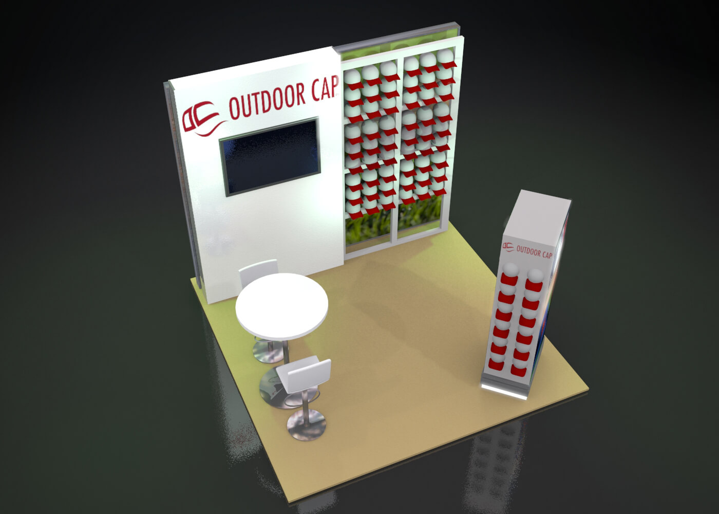 Outdoor Cap 10x10 Exhibit Design