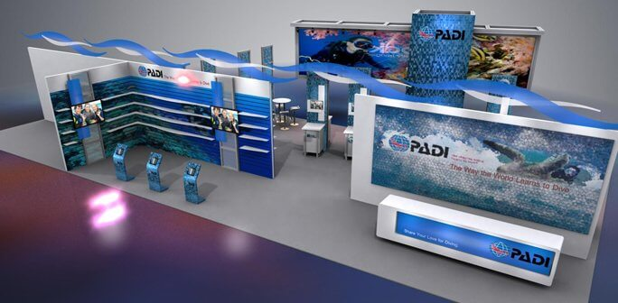 PADI - Solar 20x30 Custom Modular Exhibit