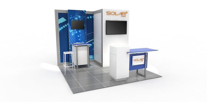 Solar E 10x10 Modular Exhibit by Abex