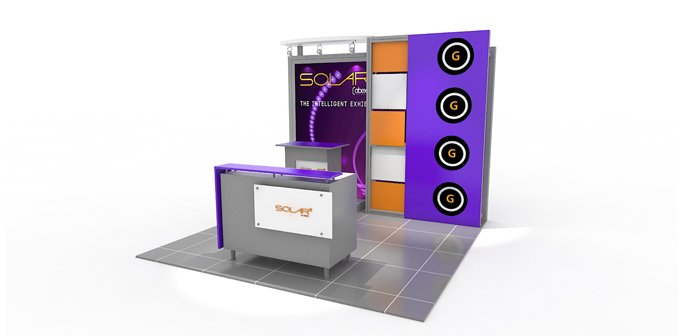 Solar G 10x10 Modular Exhibit by Abex