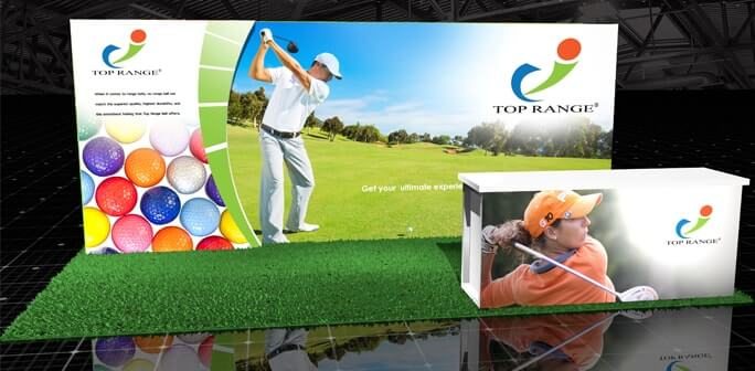 TopRange Golf - 10x20 Lumiwall Modular Exhibit